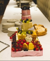 Wedding cake made of cheese