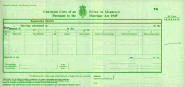 Blank Marriage cert