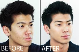 Male make up before and after
