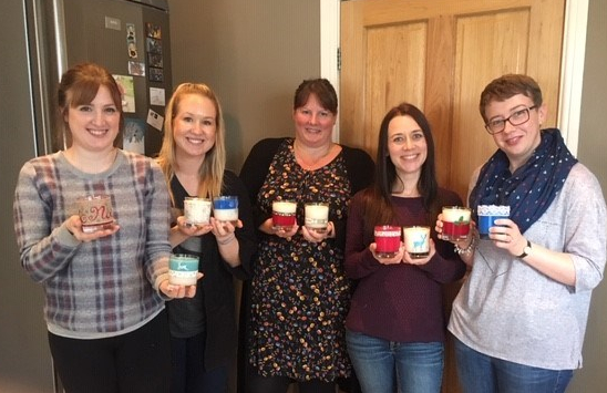Candle making ladies