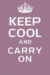 Copy of Keep Calm and Carry On Template Poster - Made with PosterMyWall